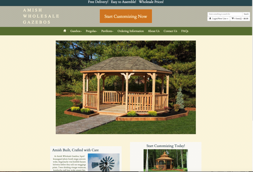 Image Amish Wholesale Gazebos