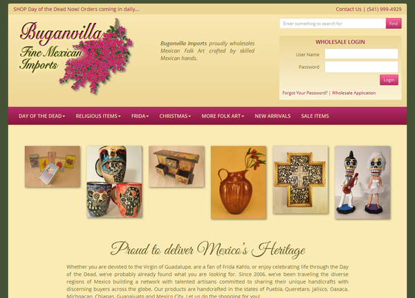 Buganvilla: Fine Mexican Imports | Websites Developed by HEROweb